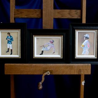 6 x 8 ins Jockey Studies