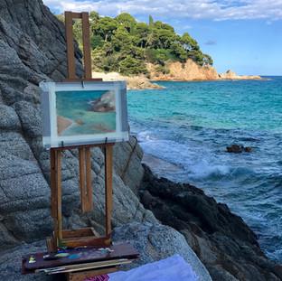 Painting in Costa Brava, Spain