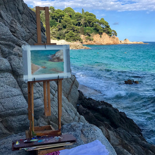 Painting in Costa Brava, Spain
