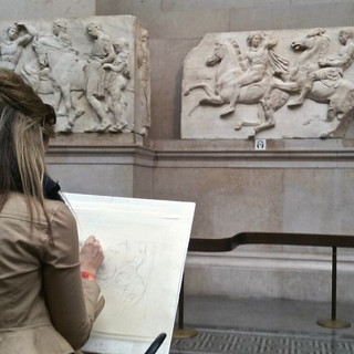 Drawing in the British Museum, London