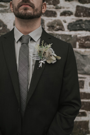 Buttonhole wedding florist flowers