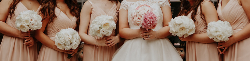 Bridal and bridesmaids bouquets devon