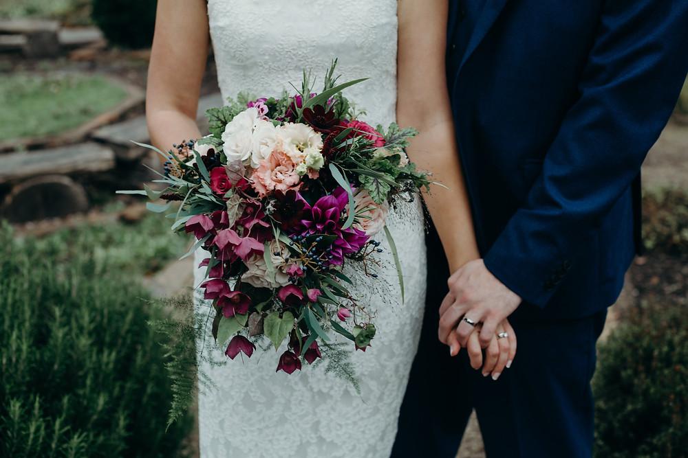 Bridal bouquet devon wedding florists