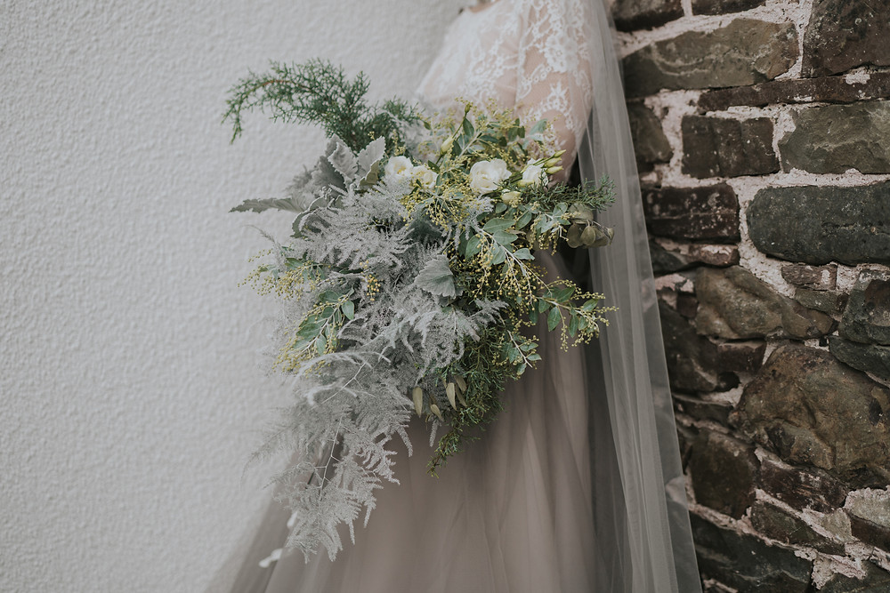 Foliage bridal bouquet devon