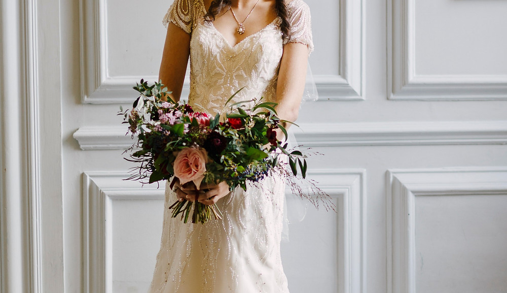 Bridal bouquet wedding flowers devon