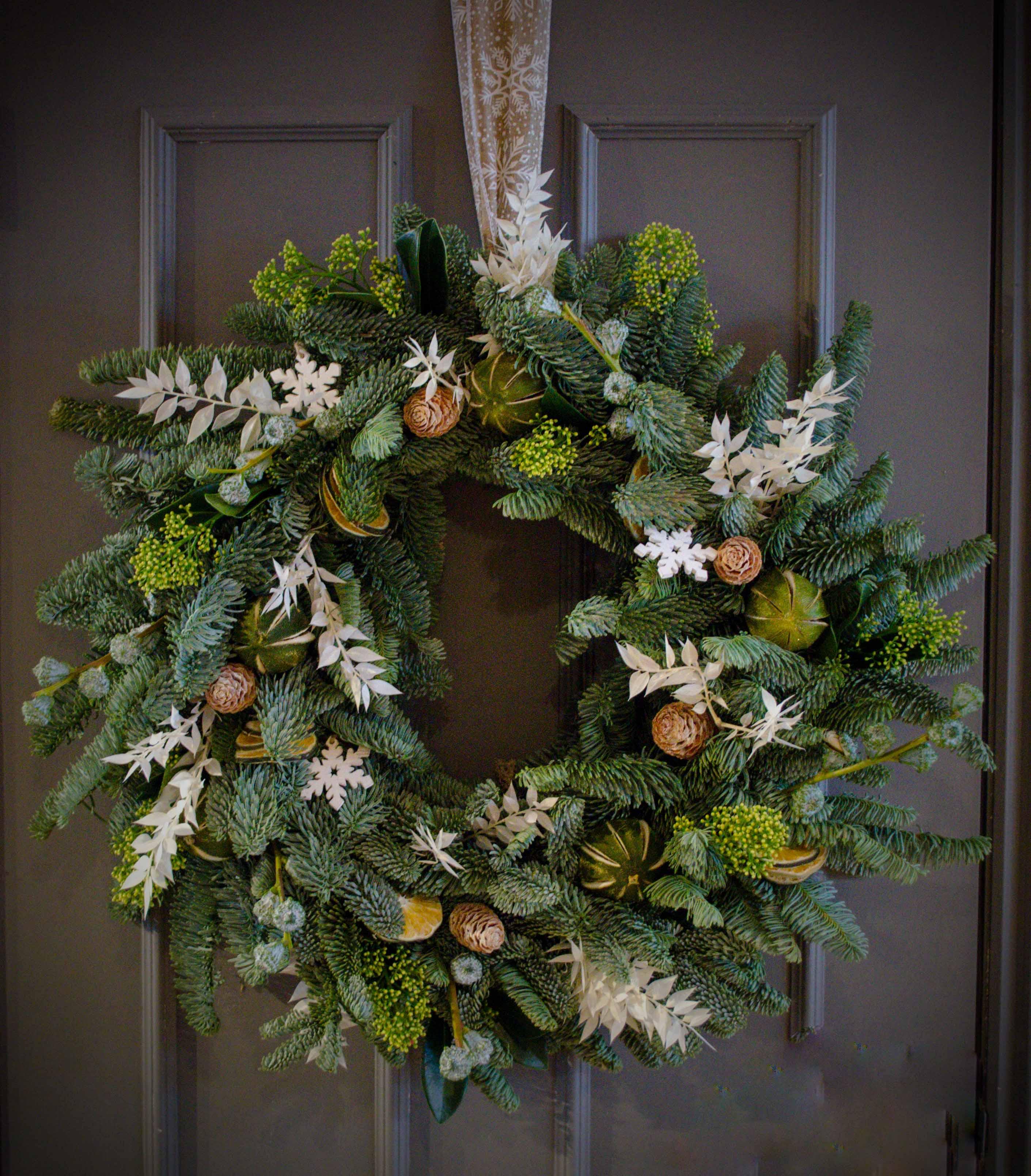 christmas wreath topsham