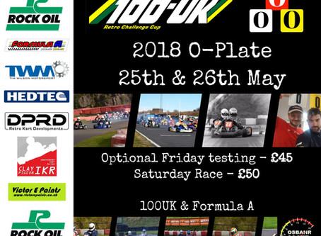 2018 O-Plate 25/26 May