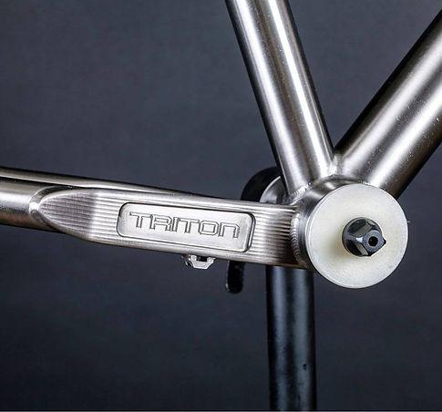 Triton Chain Stays. Custom Bike Design in Glasgow Scotland. Titanium.