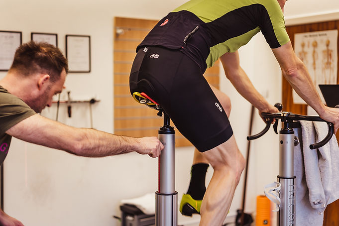 Saddle height and annual positional adjustments made as part o the annual tune up service. Have you changed in this last year? cycling injuries or weight gain, long periods off the bike? check your fit.