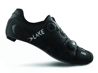 LAKE cx241 mens black and silver cyling shoe fitting