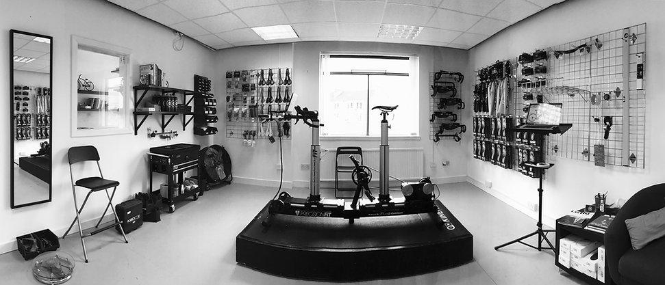 Scotlands Premiere Bikefit Studio based in Paisley, Glasgow. Bike fitting is optimised utilising the purely custom fitbike jig.