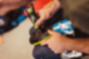 Specialized Torch Cycling shoes being set up using Shimano SPD-SL cleats. Anti Seize keeps screws from rusting on in typical Scottish weather.