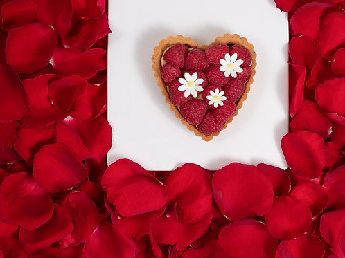 Tarta Corazón de Lichi