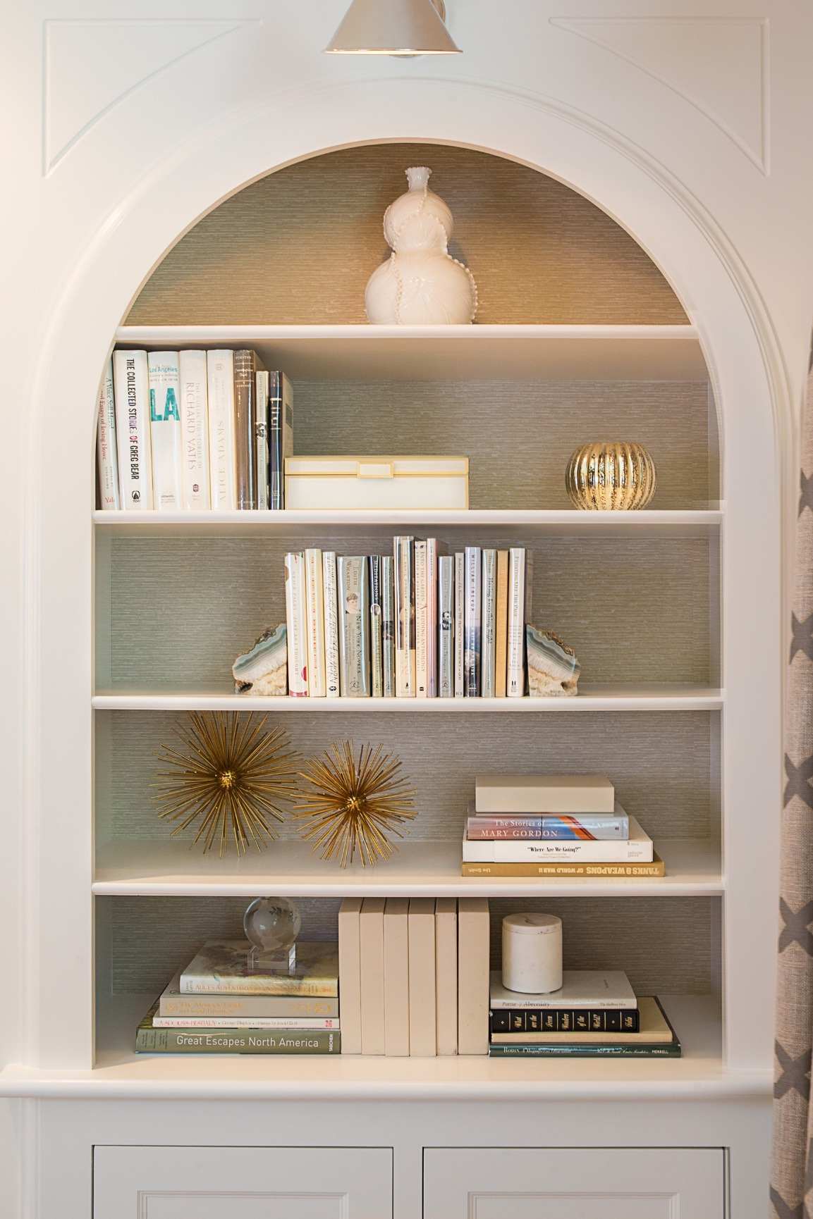 Custom designed shelving