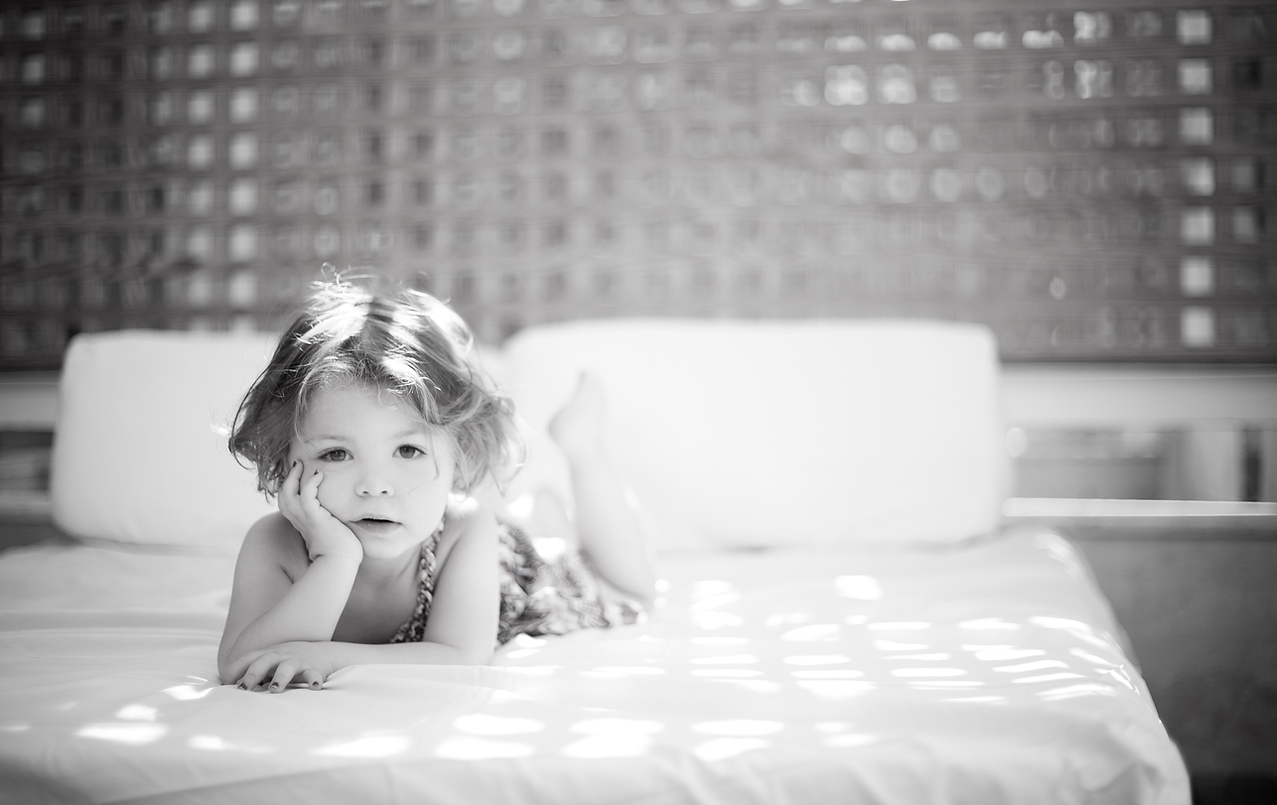 Child on the Bed