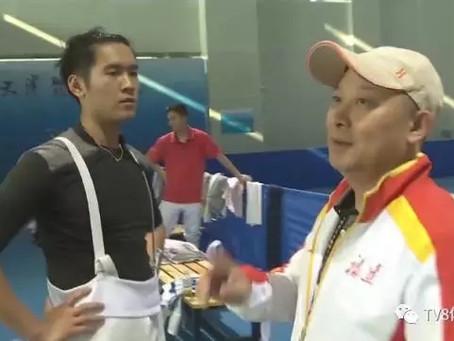 击剑赛场最安静的教练李喆