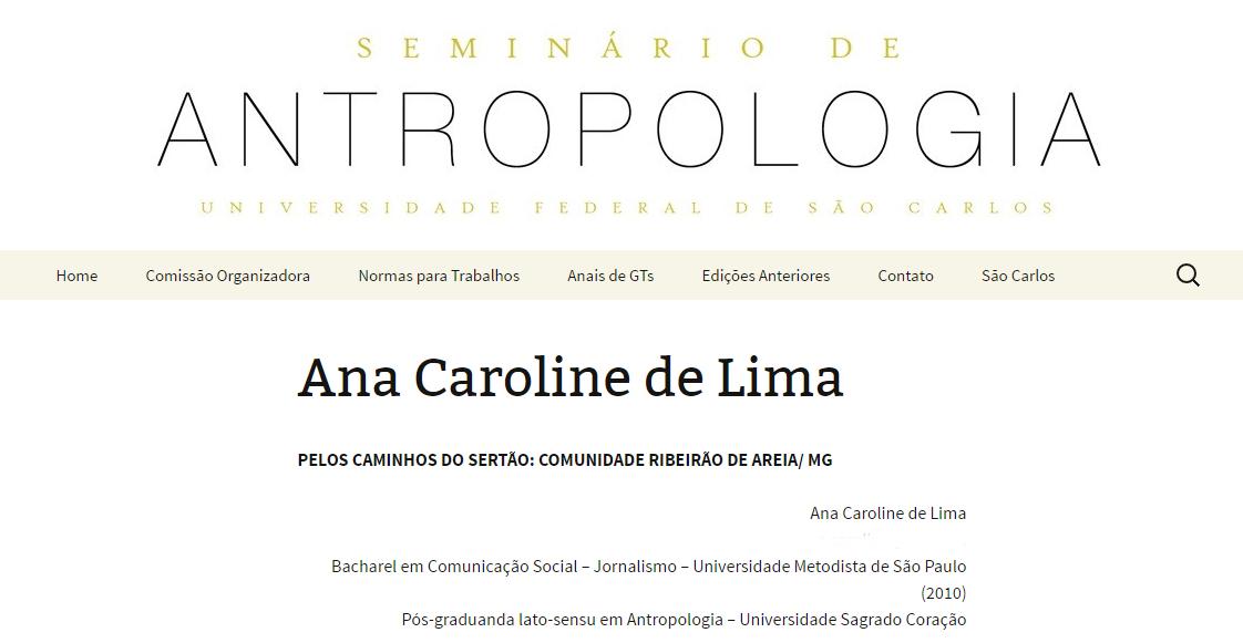 Seminário de Antropologia USC