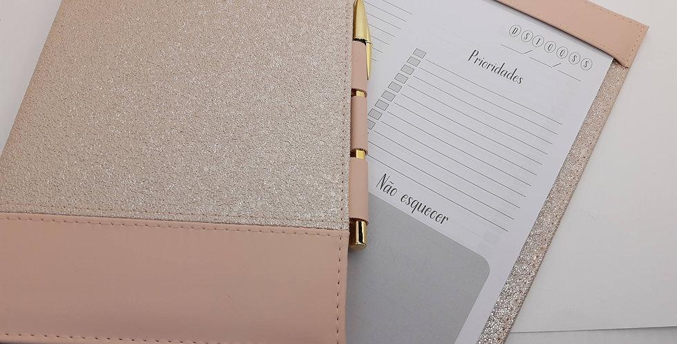 Caderno + Check list pérola