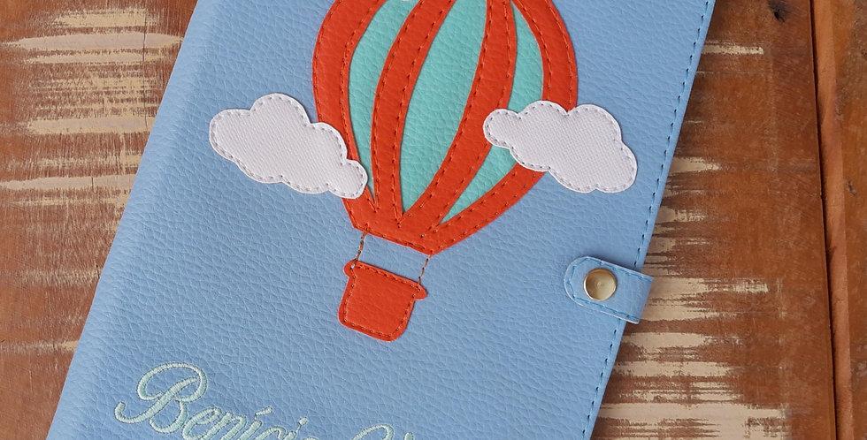 Porta Cartão de Vacina Balão Nuvem
