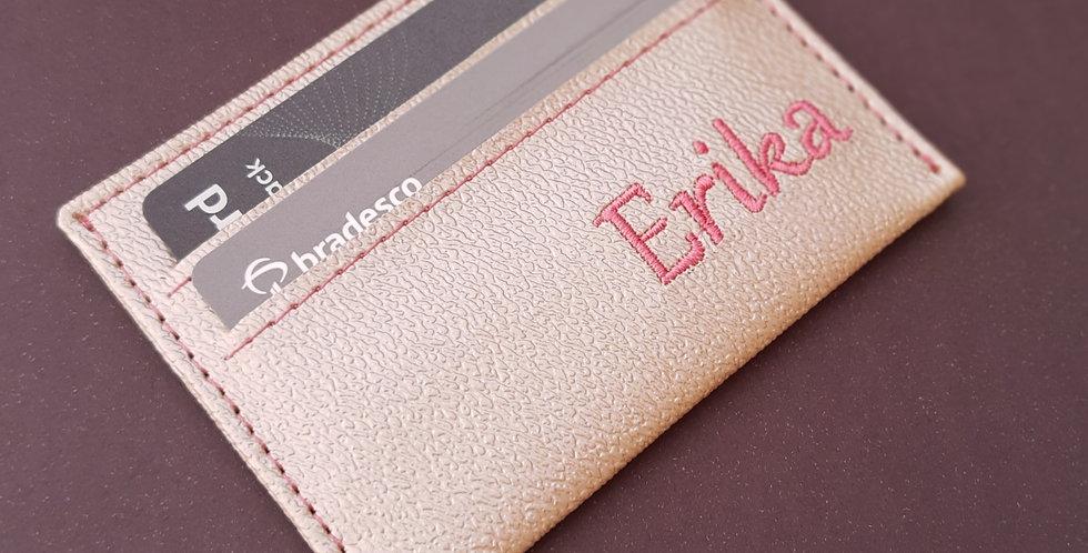 Porta Cartão Feminino Bordado