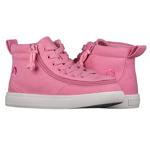 Billy Wide Pink Raspberry Kid's Classic High Lace
