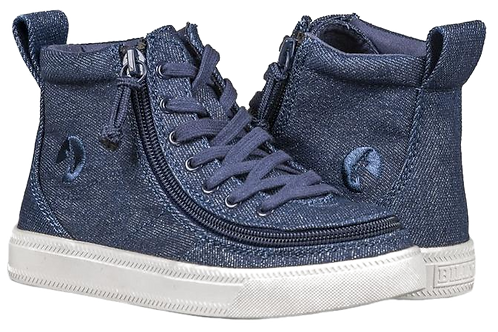 Billy Denim Glitter Kid's Classic High Lace