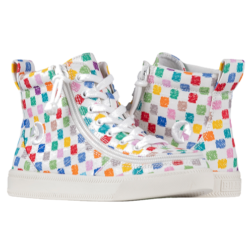 Billy Checkerboard Kid's Classic High Lace