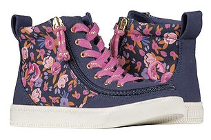 Billy Navy Floral Classic Hi Lace