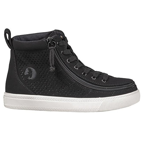 KIds Black Perf Faux Leather Classic High Lace