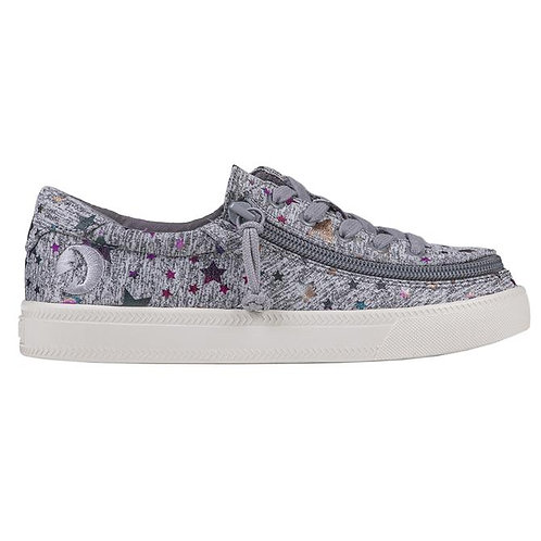 Billy Kid's Heather Grey Star Classic Low Lace
