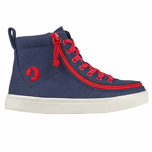 Billy Navy Red Kid's Classic High Lace