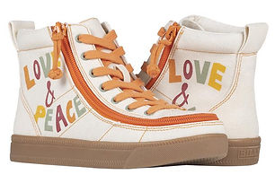 Billy Love and Peace Classic Hi Lace