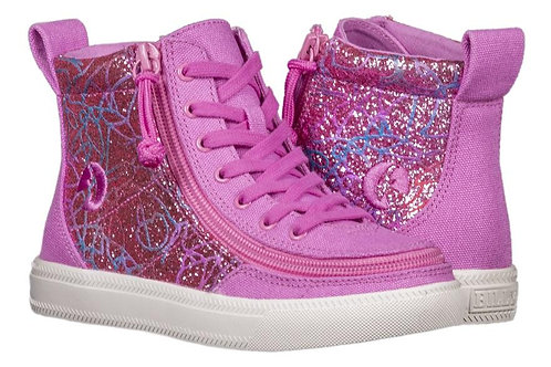 Billy Pink Print Kid's Classic High Lace