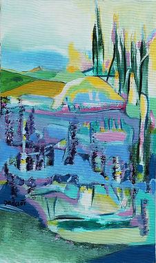 la vallée des bambous  - ht 46 cm : lar
