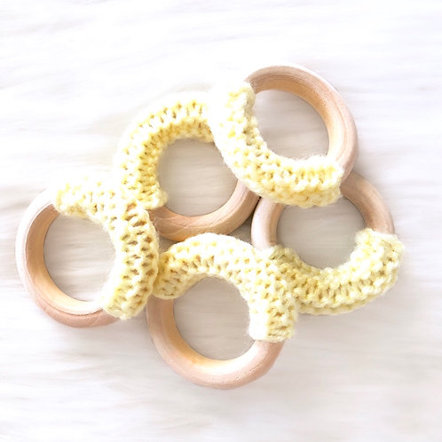Yellow Wooden Teething Ring