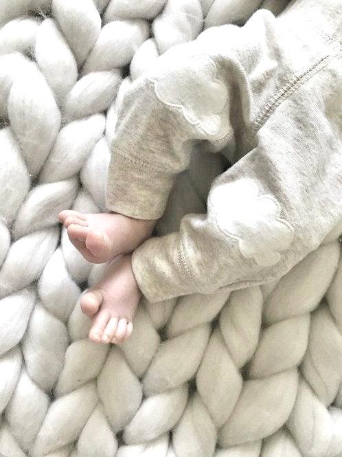 Vanilla Cream Chunky Blanket