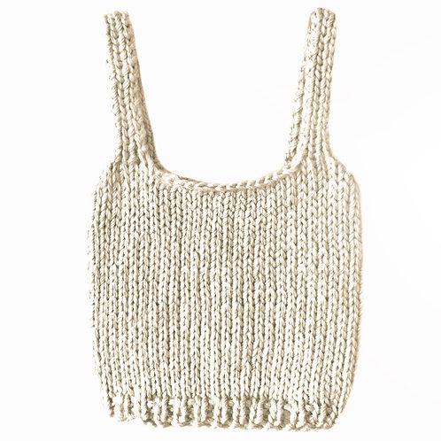 Beach Cream Knit Top