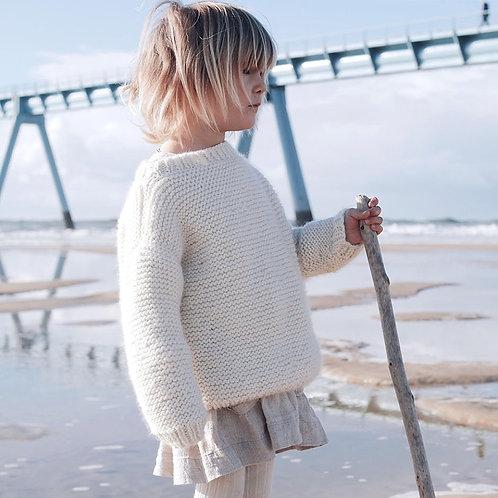 Charlotte White Chunky Sweater