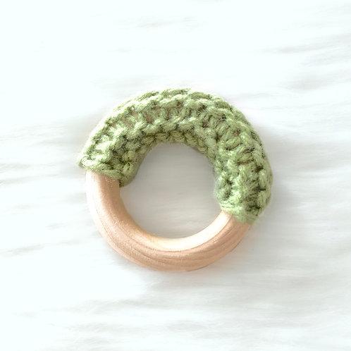 Green Wooden Teething Ring