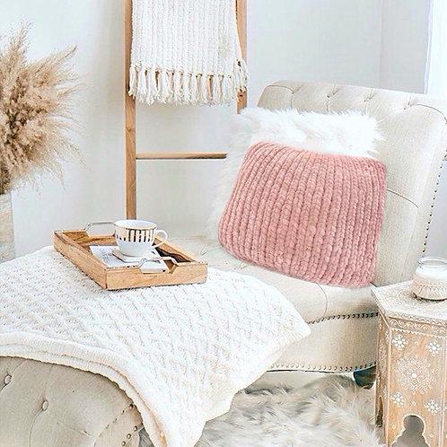 Pink Knit Pillow