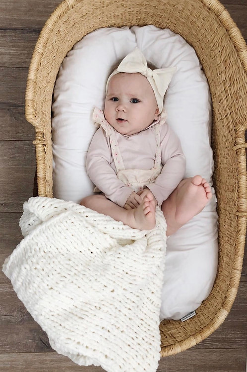 Minimalistic White Blanket for Babies