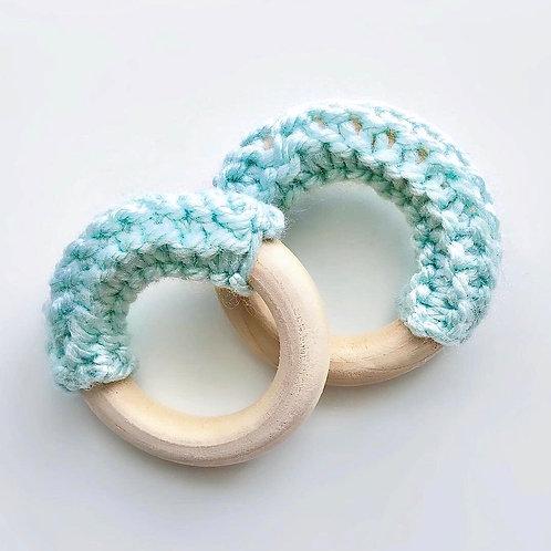 Aqua Wooden Teething Ring