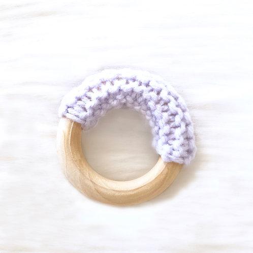 Purple Wooden Teething Ring