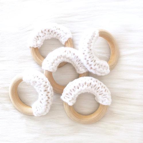 White Wooden Teething Ring