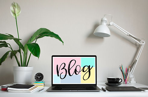 Blogging,blog concepts ideas with comput