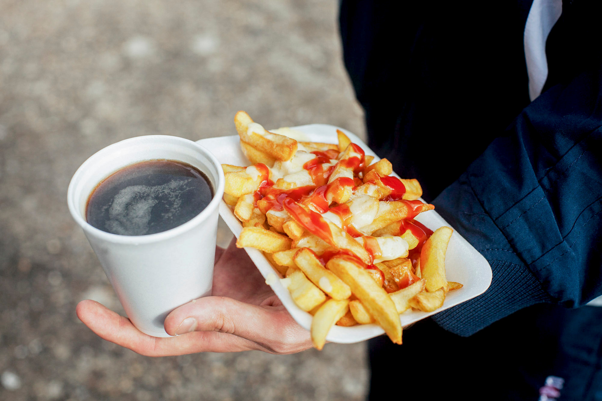 fries and tea
