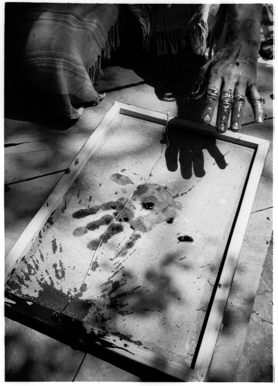 Peter Beard hand print #2