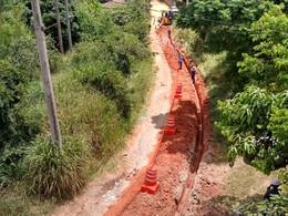 Saneouro amplia mais de mil metros de rede de abastecimento no Catete, em Santo Antônio do Leite