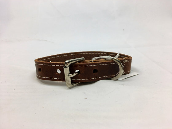 Chocolate stitched collar