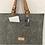 Thumbnail: Felt and leather laptop bag